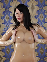 Sexy MILF is wrapped in some plastic | DesyraNoir.com