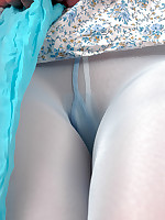 Blue Pantyhose Layers Pantyhoseinnylons.com