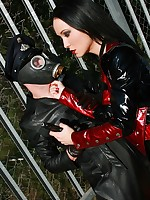 Fetish Liza - tight shiny outfits, high boots and heels, femdom and more