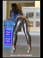 Super silver sexy leggings