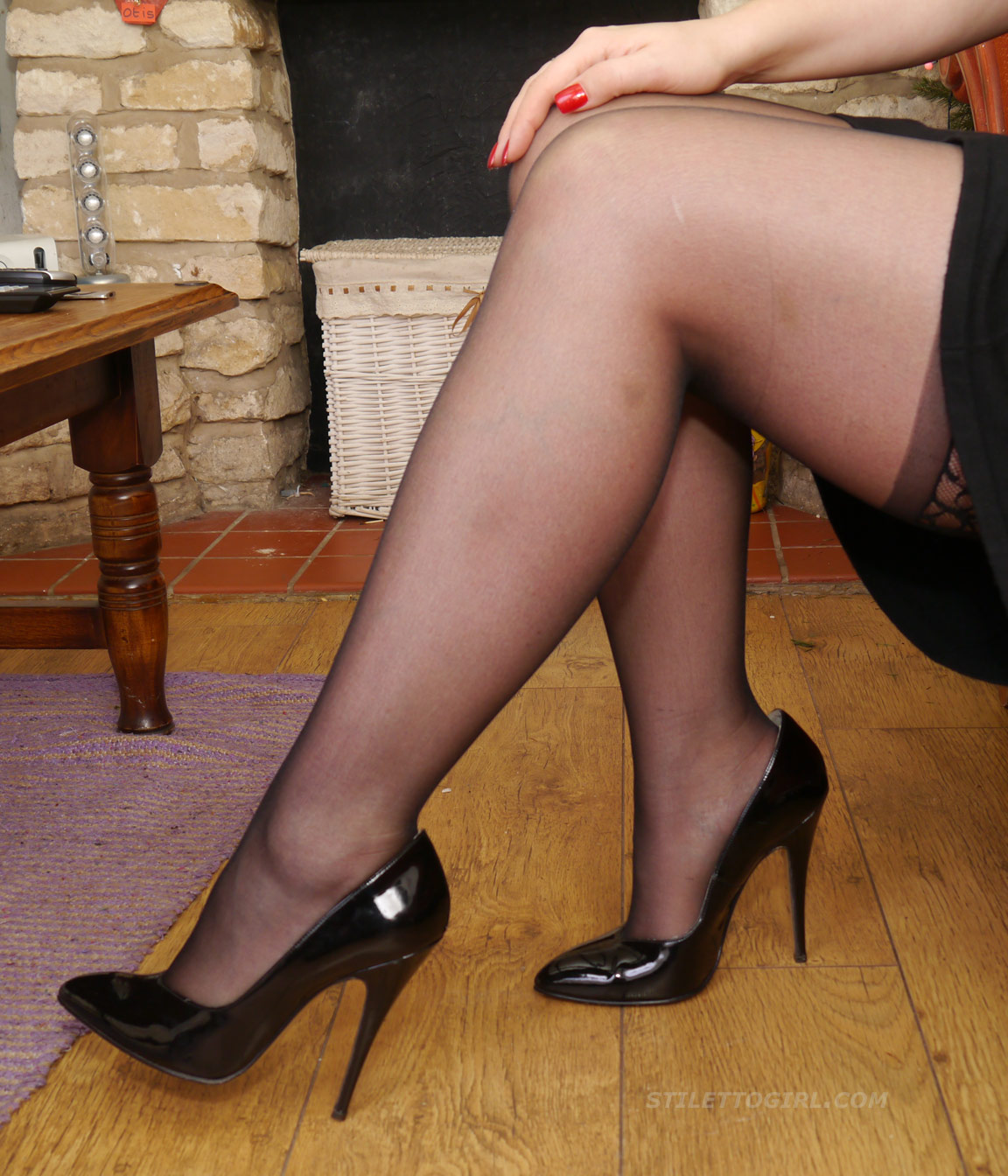 Stocking domination erotic nylon heels